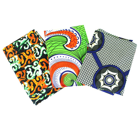 Set Of 3 African Print Head Wraps