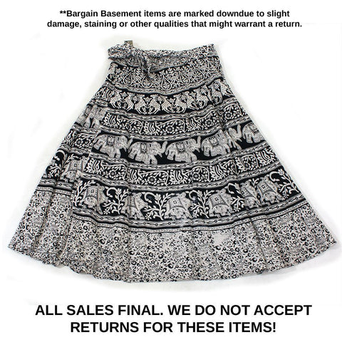 MISPRINTED Animal Wrap Skirt: Black