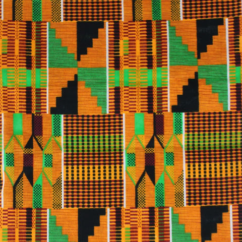 African-Made Kente #2 Fabric 3 Yards
