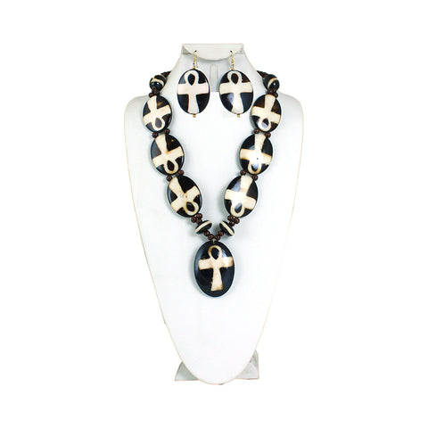 Bone Necklace & Earring Set