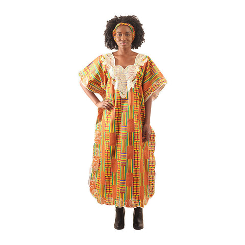 African-Made Kente Kaftan