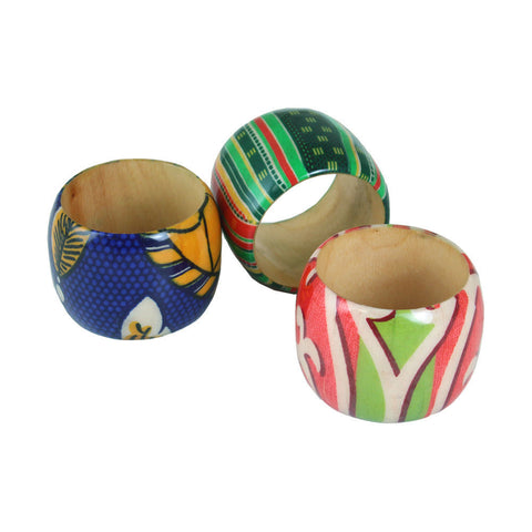Set Of 3 Afrocentric Cuffs - ASSORTED