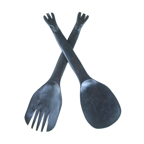 Ebony Salad Set