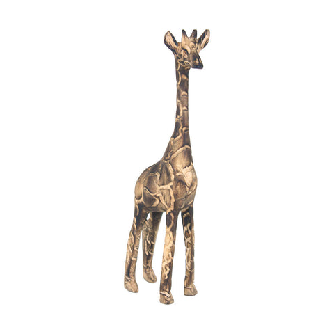 Fire Blackened Wooden Giraffe