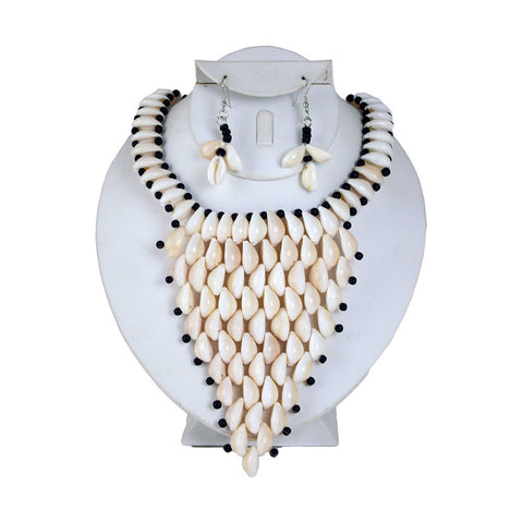 Cowrie Shell Necklace & Earrings Style-C