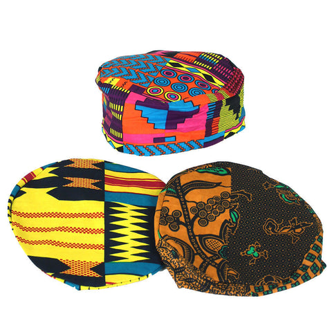 Set Of 3 ASSORTED Afrocentric Kufi Hats