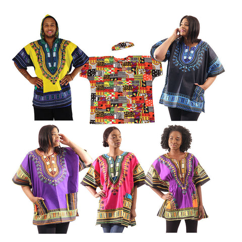 Set Of 6 Assorted Dashikis