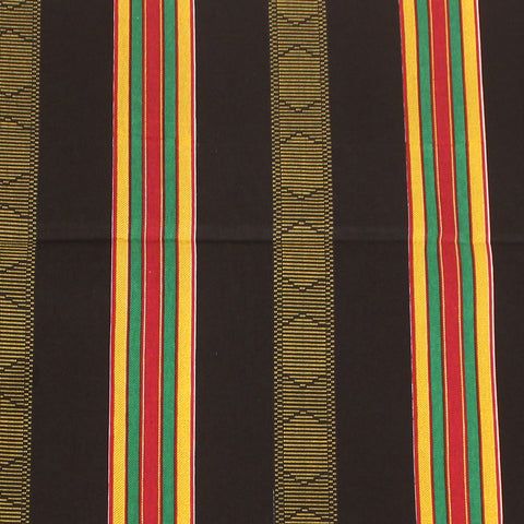 African Kente Fabric #4 BLACK - 6 Yards