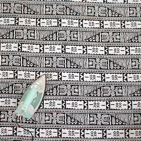 Black & White Mud Print Fabric