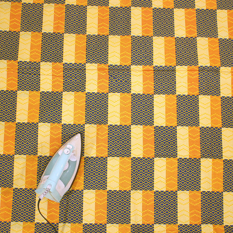 Yellow/Gold/Blue African Print Fabric