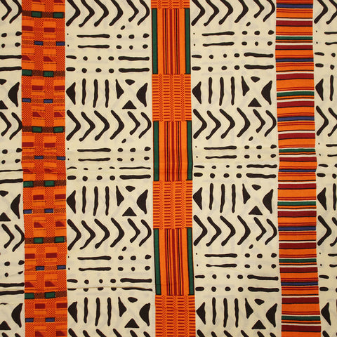 Kente/Mud-Strip: African Print Fabric