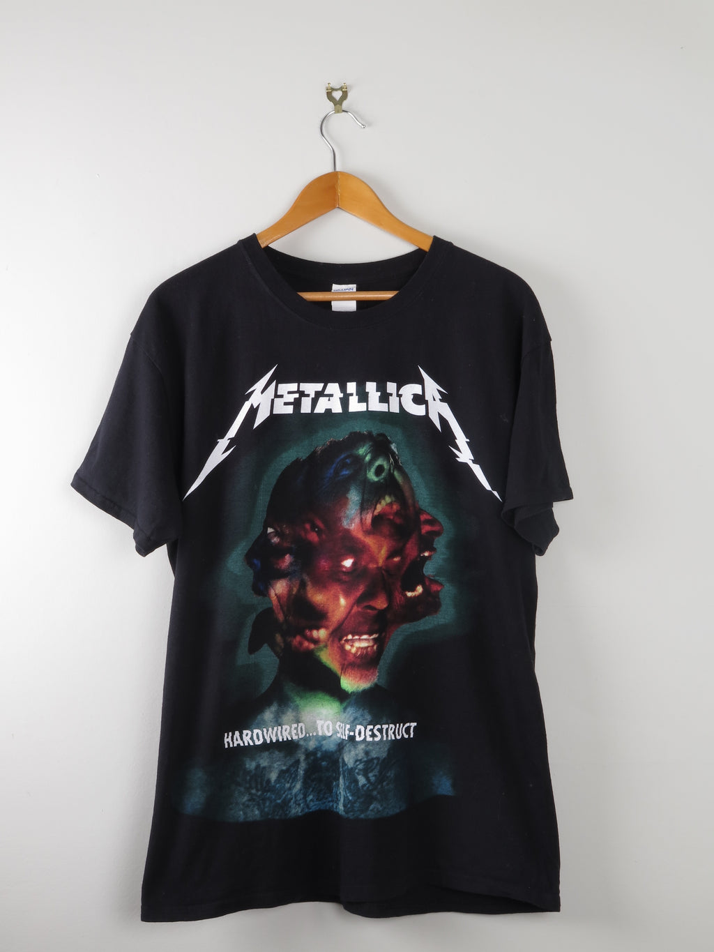 Metallica Rock Tshirt L' Hard Wired For Self Distruction'