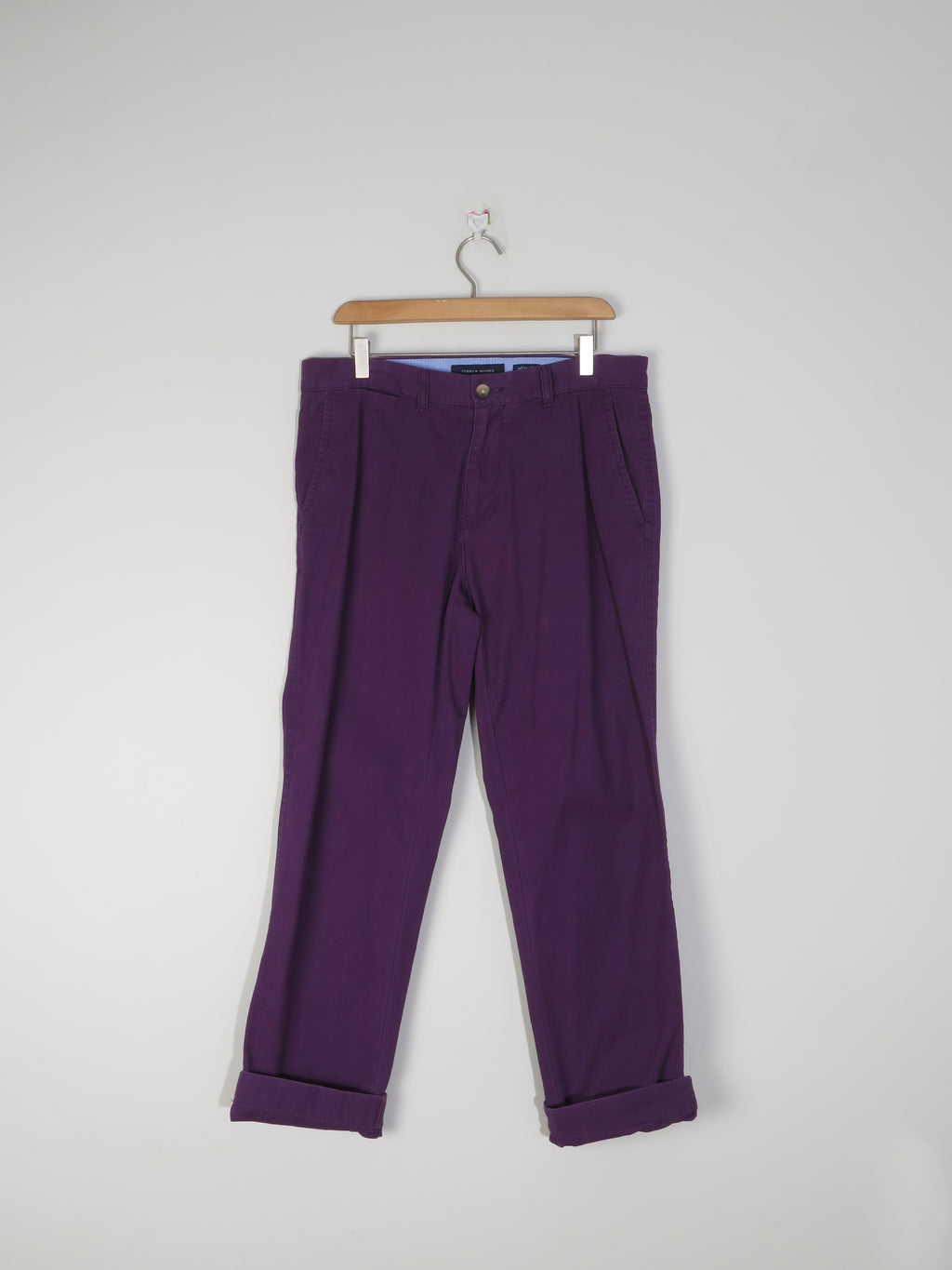 Men's Purple Tommy Hilfiger Summer Trousers 32/30