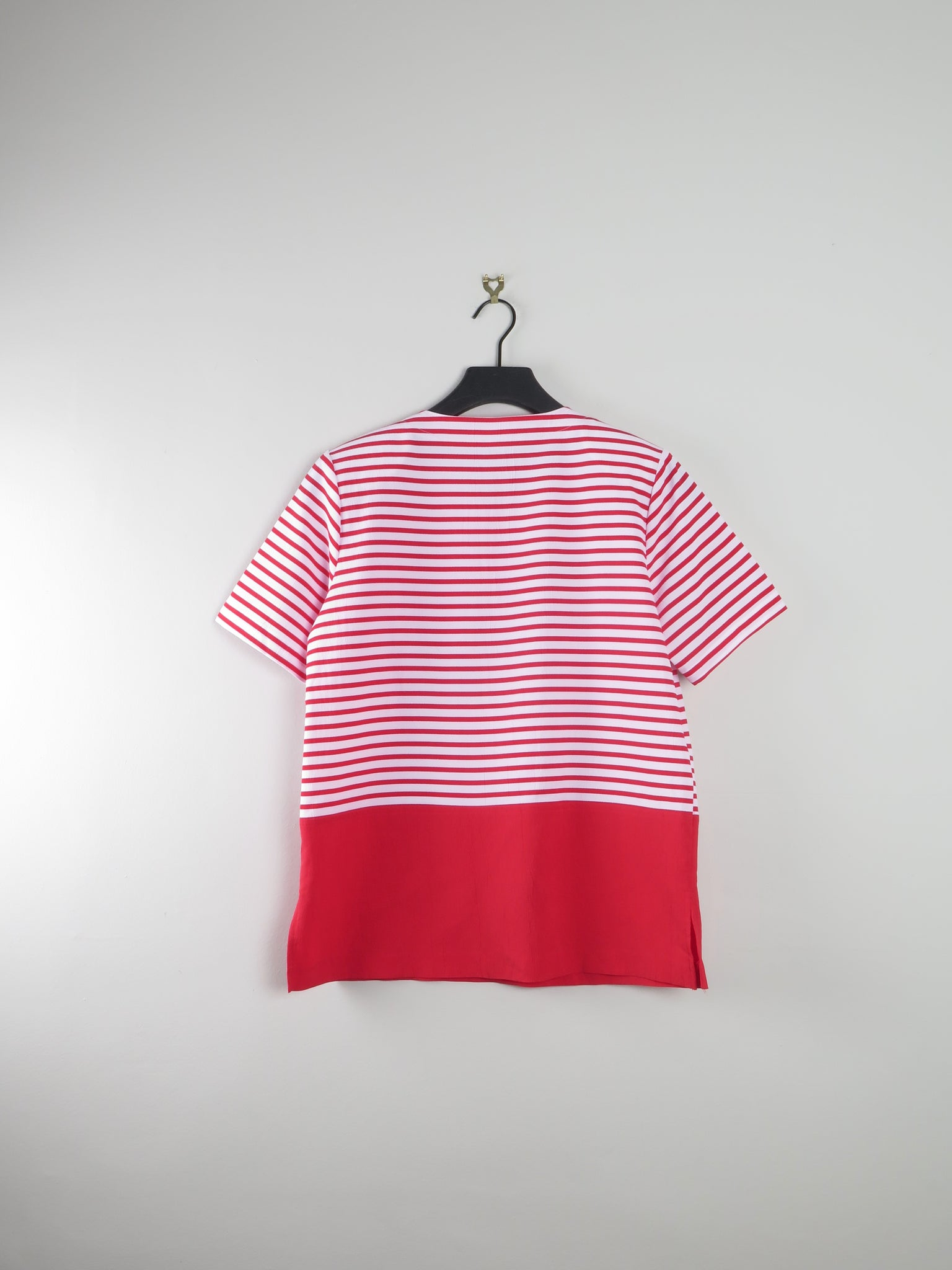 Red & White Sailor Style Blouse M