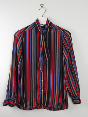 Tie  Neck striped Blouse S/M