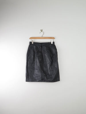 "Black Leather Skirt 27""/S - The Harlequin"