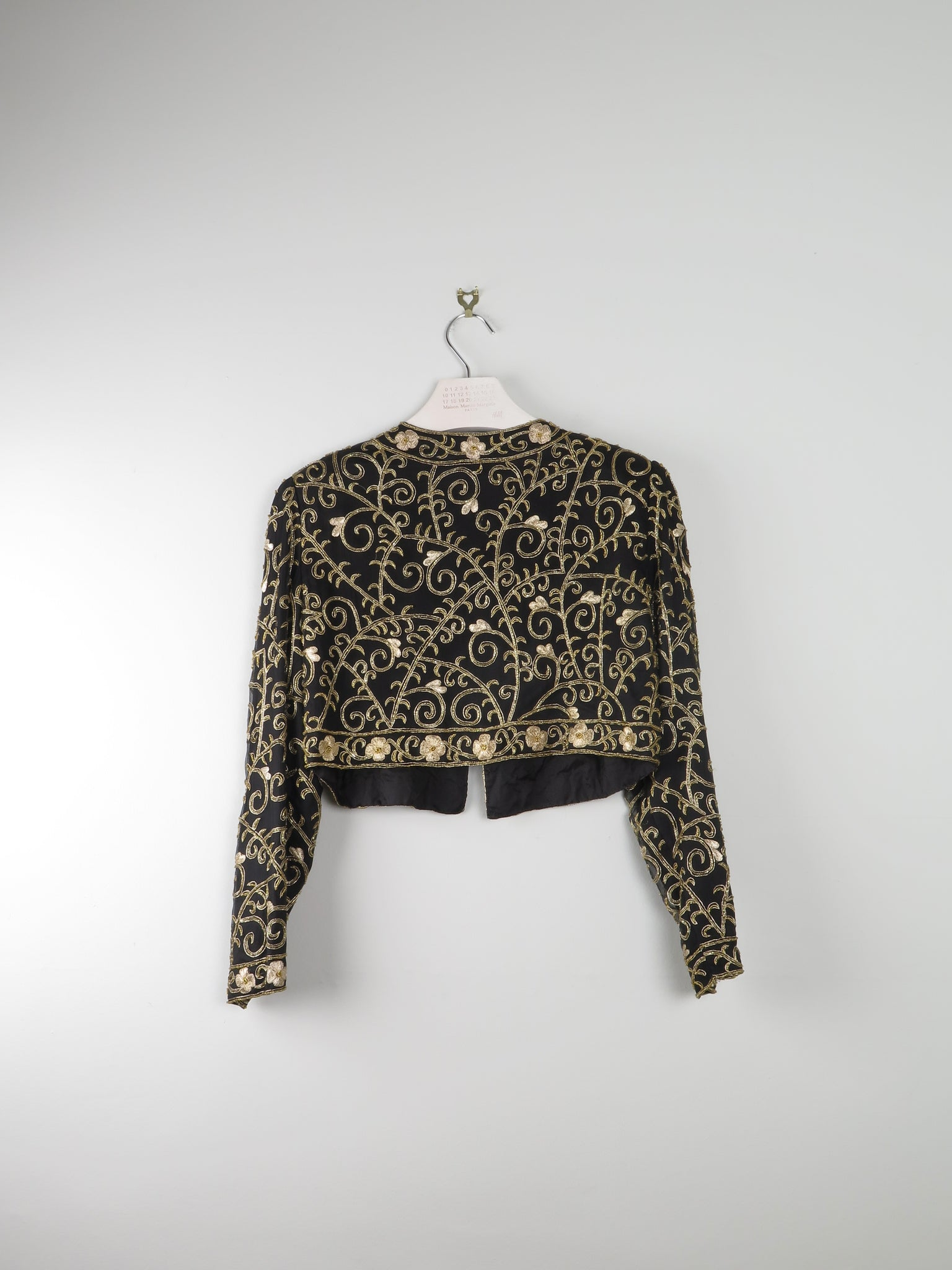 Gold Hand  embroidered Balaro jacket S