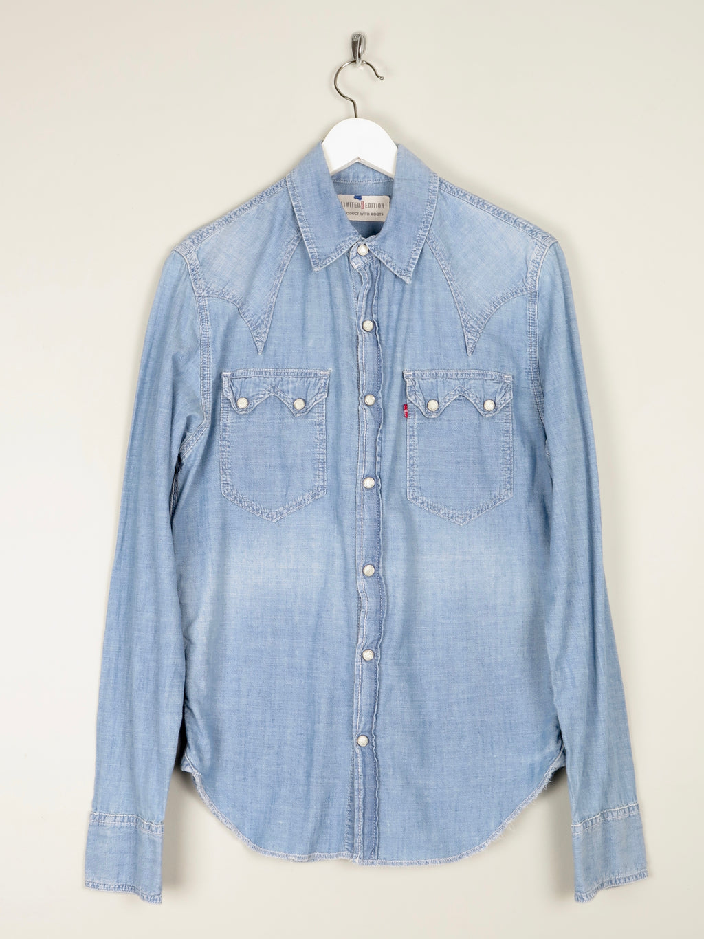 Mens Levis Limited Edition Denim Shirt With Print On the Back S