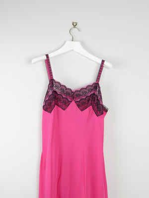 Bright Pink Vintage Slip Dress M