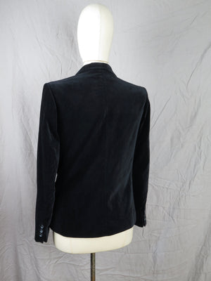 Black Velvet Tailored Jacket S