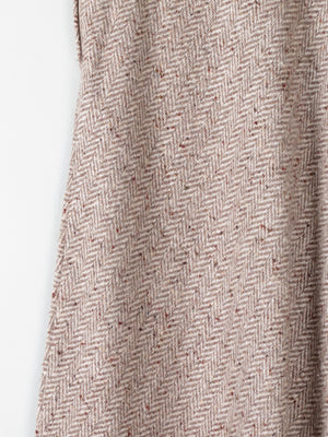 "Oatmeal Irish  Tweed Maxi Skirt 28""8/10"