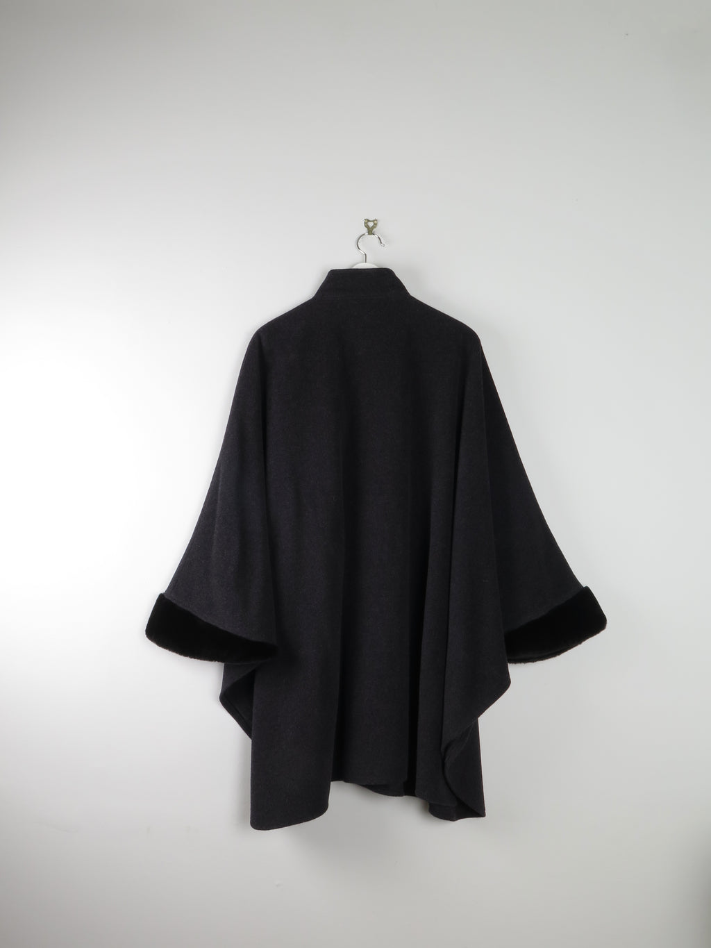 Black Suede Fringed Jacket  S - The Harlequin