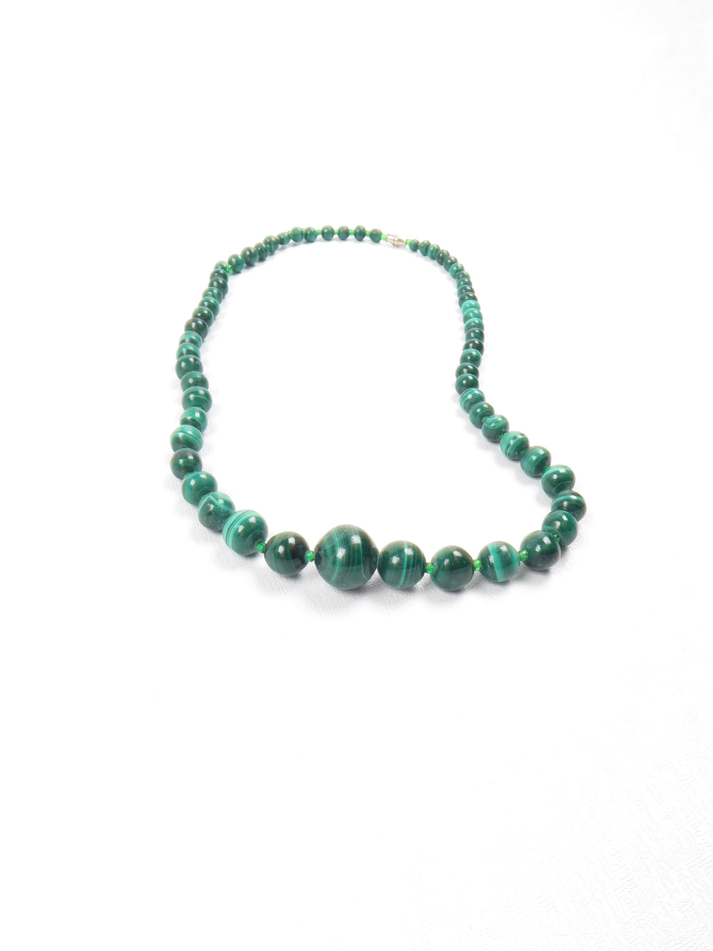 Malachite Graduated Vintage Necklace