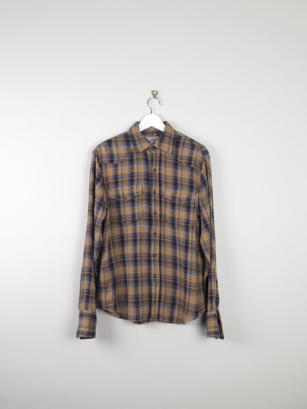 Mens Gap Mustard  Check Western Style Shirt S
