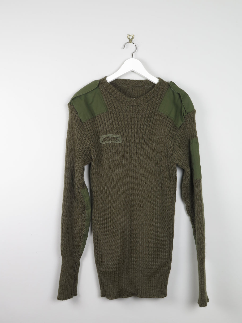 Mens Green Army Jumper L/XL