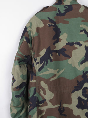 Green Camouflage Army Jacket L
