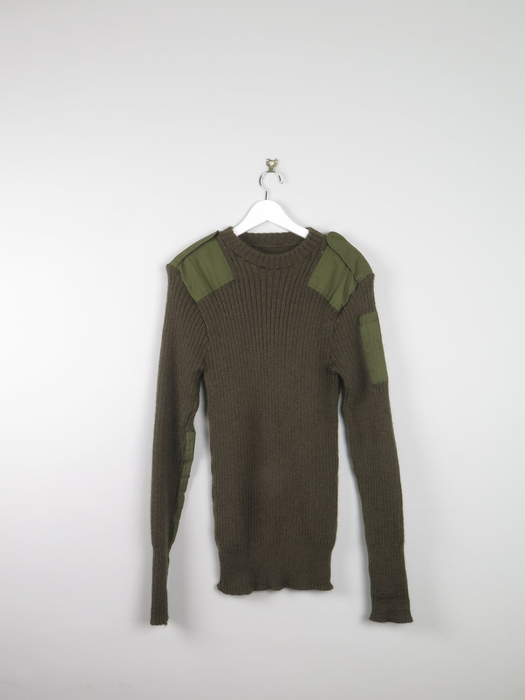 Mens Green Army Jumper M