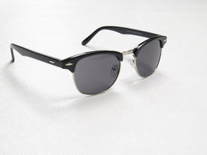 Clubmaster Style Sunglasses Black & Brown