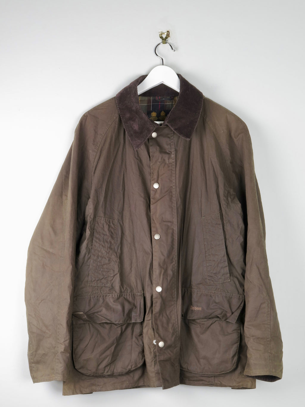 Green Mens Barbour Wax Jacket L