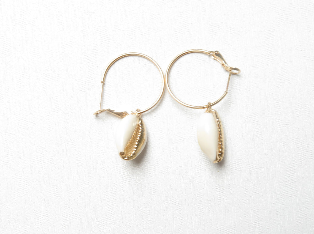 Shell &  Hoop Earrings