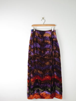 Crushed Velvet Midi Printed Skirt 10/12