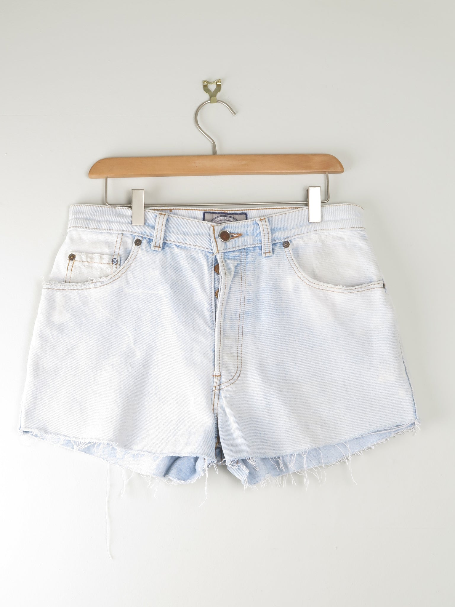 "Levis 501 Denim Shorts 32"" Light Blue"