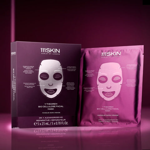 111 Skin Y Theorem Bio Cellulose Facial Mask Box, 23ml x 5
