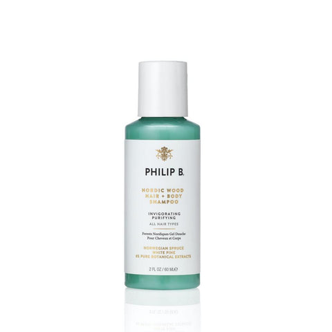 Philip B Nordic Wood Hair + Body Shampoo, 350ml