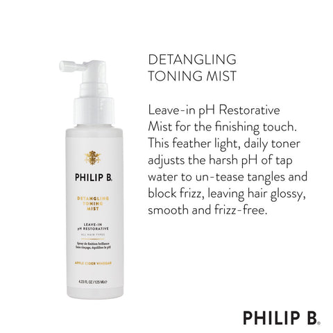 Philip B Detangling Toning Mist (Leave-In pH Restorative), 125ml