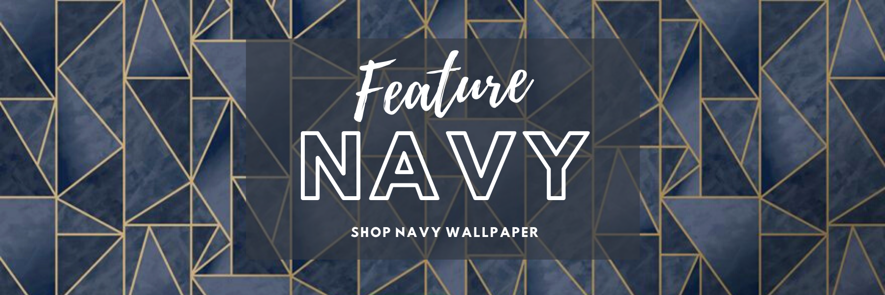 Navy Feature Wallpaper