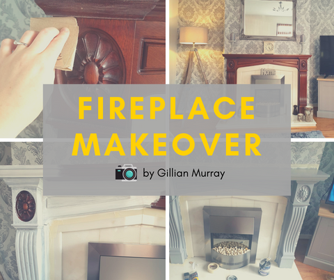 Fireplace DIY Makeover Grey