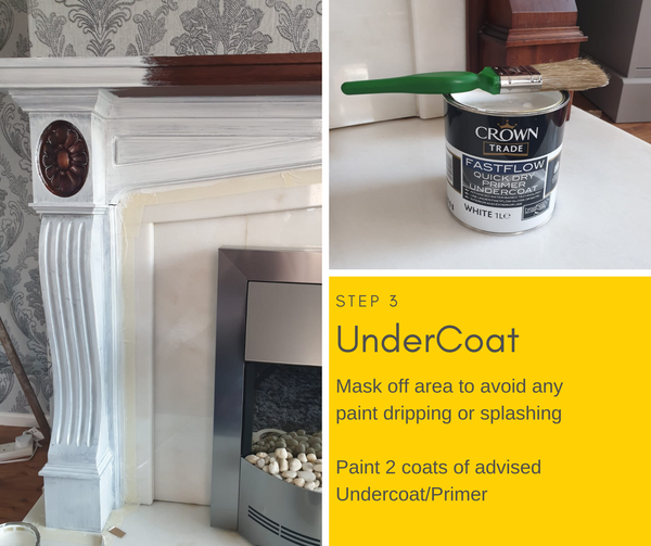 DIY Fireplace Makeover - Grey Dulux Paint