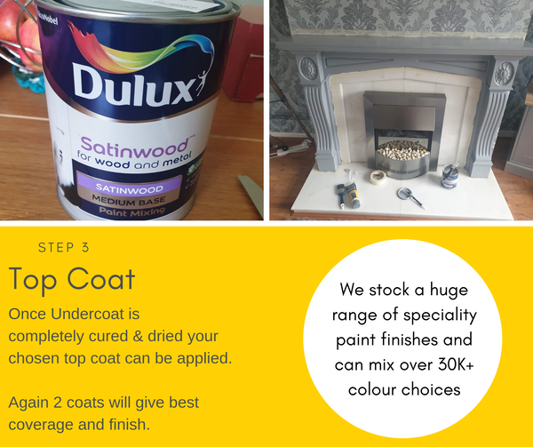 DIY Fireplace Makeover - Dulux Grey Paint