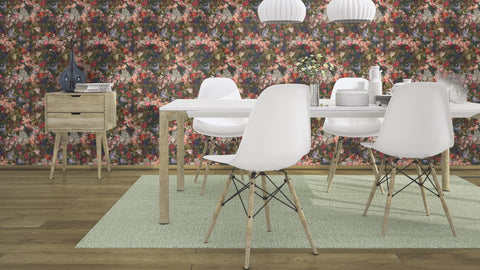 Passepartout Ink Floral Wallpaper