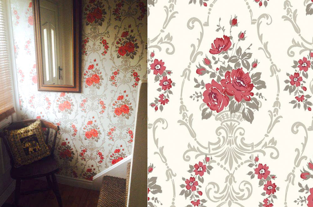 Cosy tradition with Arthouse Darcy Floral Damask Red