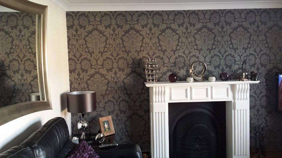 Black feature wall living room for Wallpaper for feature wall living room