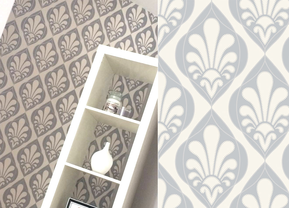Rasch Ritz Grey Cream Damask