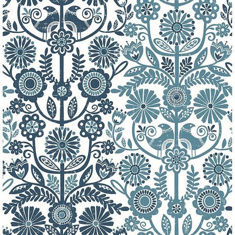 Fine Decor Wallpaper | LoveBirds Navy | FD25106