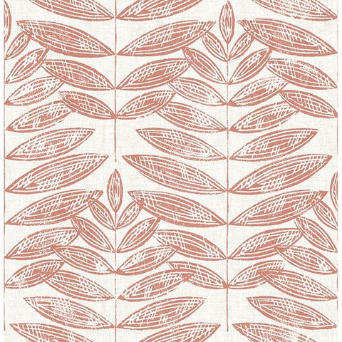 Fine Decor Wallpaper | Akira Leaf Coral | FD25103