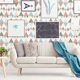 Fine Decor Wallpaper | Trilogy Geo Cpral/Blue | FD25131